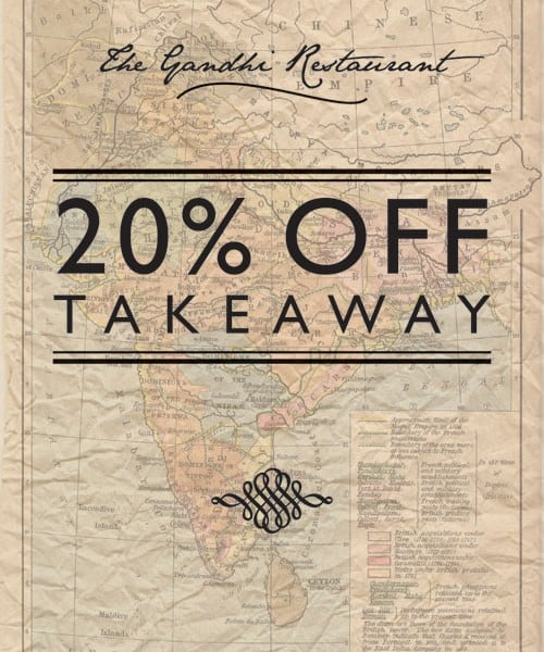 The Gandhi Restaurant promotional flyer design