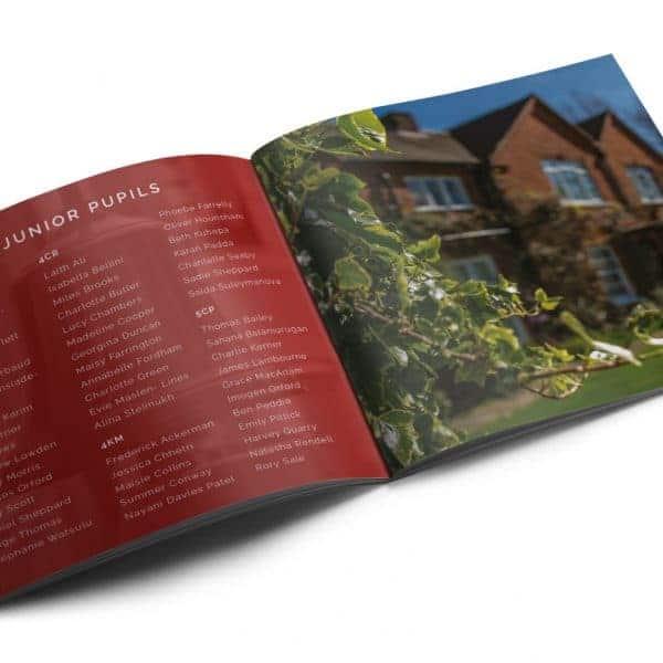 Hawley Place School album booklet design