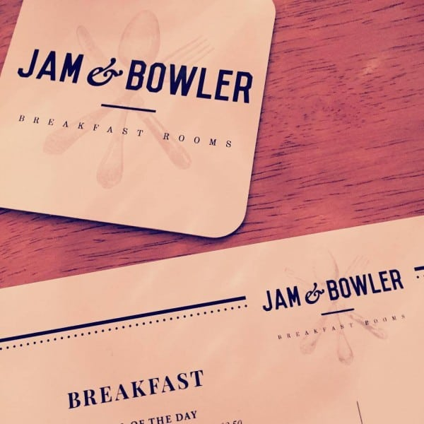 Jam and Bowler Breakfast Rooms place mat logo design