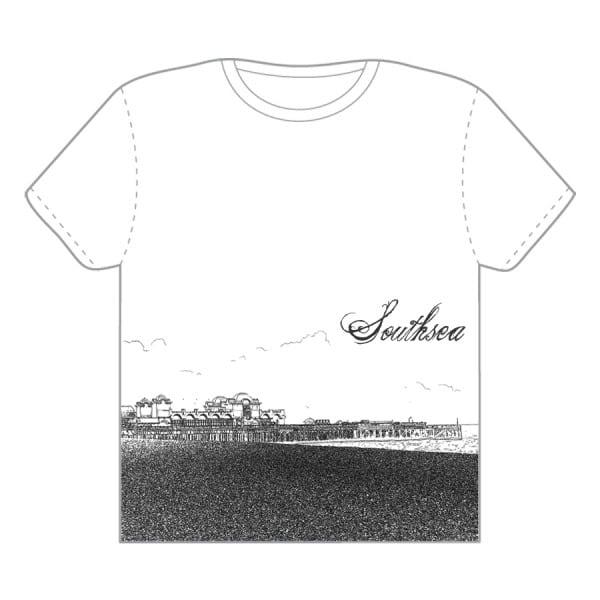 Southsea The Pier t-shirt design