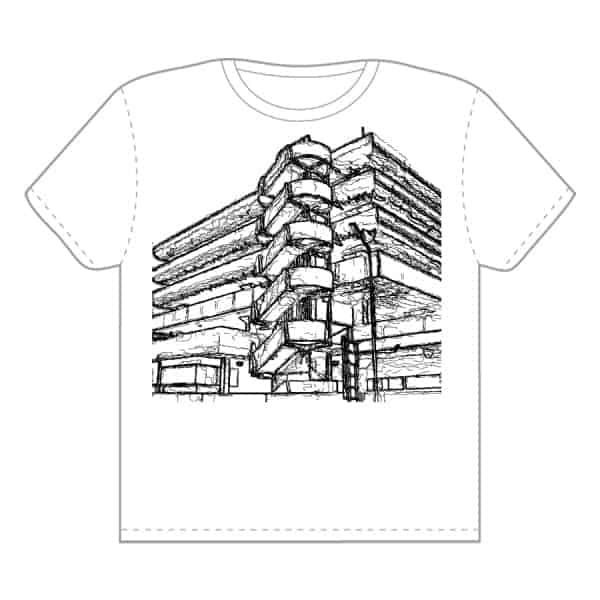 Portsmouth Tricorn Shopping Centre t-shirt design