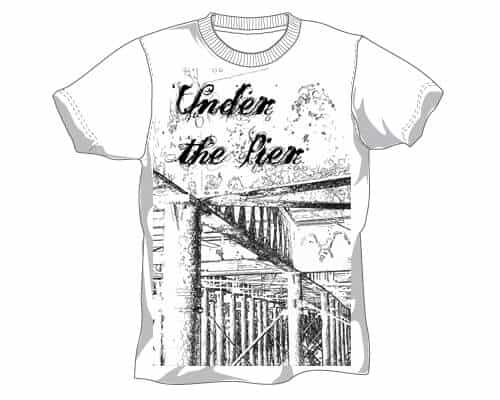 Under The Pier t-shirt design