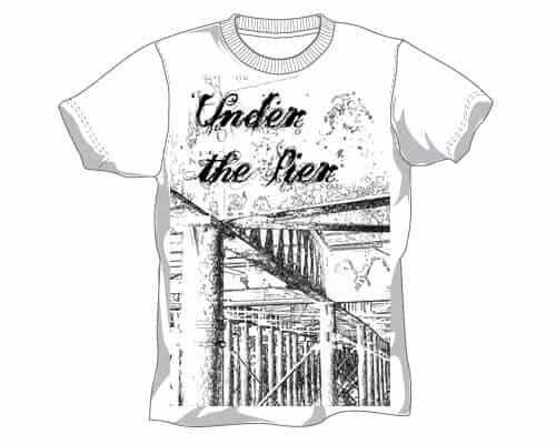 Under The Pier t-shirt design