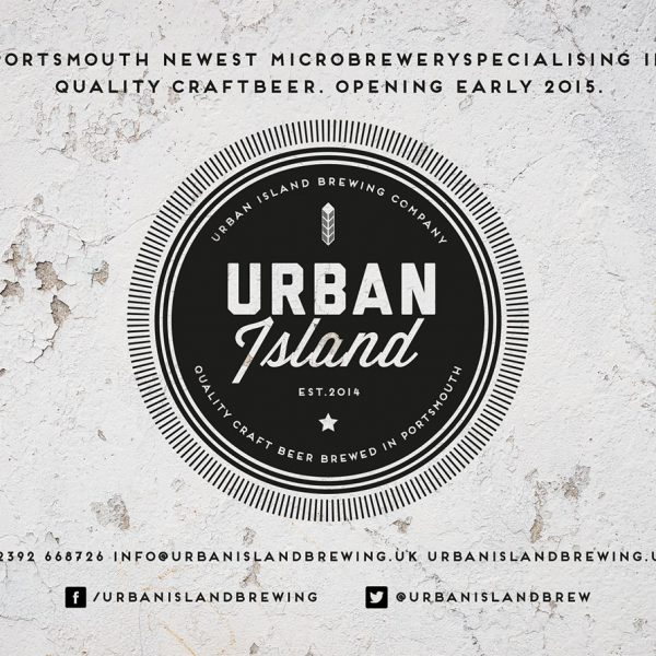 Urban Island Portsmouth Brewing Company A6 advert