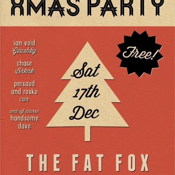 The Fat Fox Xmas Party poster artwork