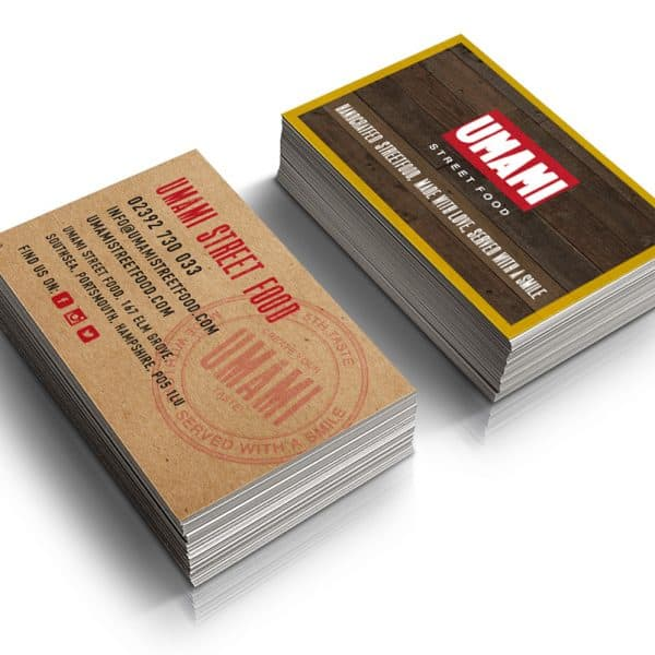 Umami Street Food Portsmouth business cards