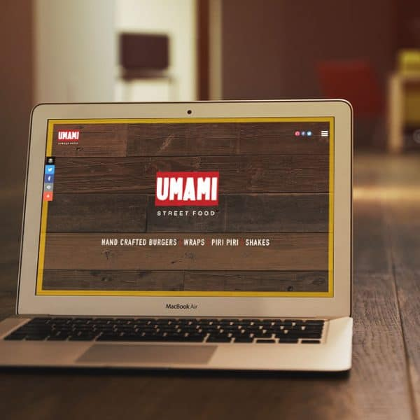 Umami Street Food Portsmouth website on Macbook Air