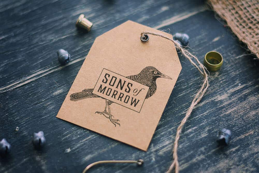 Sons of Morrow, clothing brand, branding, visual identity, logo design, clothing tag