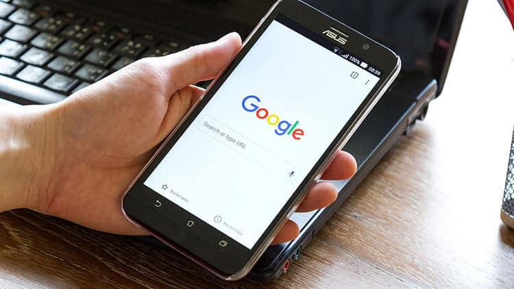 google on mobile smartphone android